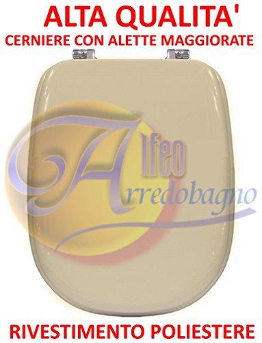 Copriwater sedile wc ideal standard tesi champagne coprivaso poliestere alta qualita'