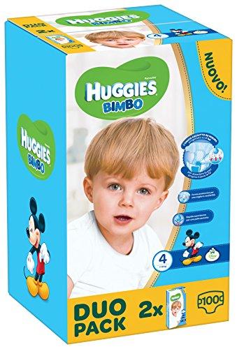 Huggies Bimbo, Taglia 4 (7-18 kg), 2 confezioni da 50 [100 Pannolini]