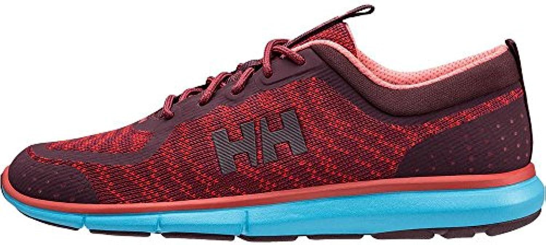 Helly Hansen W Hp Shoreline F-1, Náuticos para Mujer, Rojo (Plum/Paprika/Wildrose 655), 38 EU