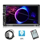 AMprime Double Din Android Car Stereo 7 inch Touch Screen FM Radio MP5
