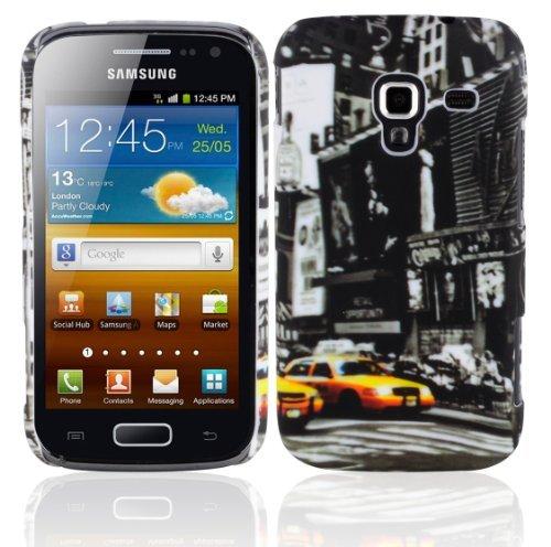 Preisvergleich Produktbild Cadorabo - Hard Cover für > Samsung Galaxy ACE 2 < - Case Cover Schutzhülle Bumper im Design: NEW YORK CAB