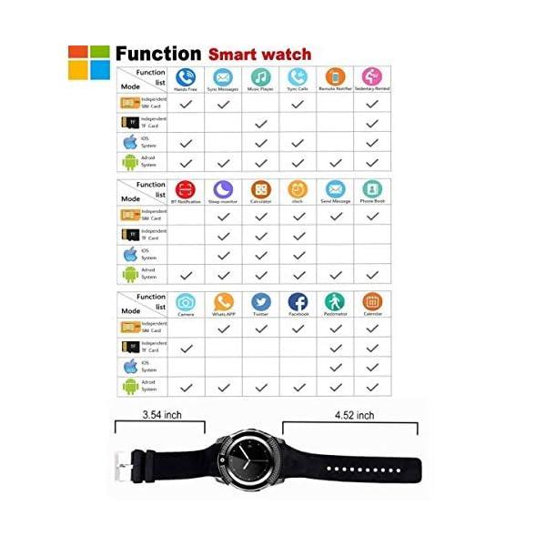 catshin SmartWatch ios android Wear con SIM Card Slot Cámara reloj Smart Watch podómetro Fitness Tracker Watch Pulsera… 5