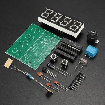 High Quality C51 4 Bits Elektronische Uhr Elektronische Production Suite DIY -Kits