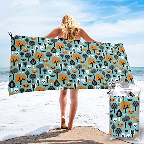 Socksforu Fast Quick Dry Towel,Sports & Beach Towel.Halloween Friends Woodland Trees Suitable for Camping, Gym, Yoga,Swimming,Travel,Hiking,Backpacking. (Friends-halloween Die Tree)