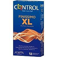 Control Finissimo XL Preservativos - Paquete de 12 preservativos más grandes