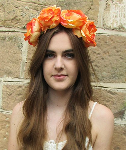 Grand Orange Pivoine Fleur Bandeau cheveux Couronne rose BIG Boho festival Guirlande Z89 * * * * * * * * exclusivement vendu par – Beauté * * * * * * * *