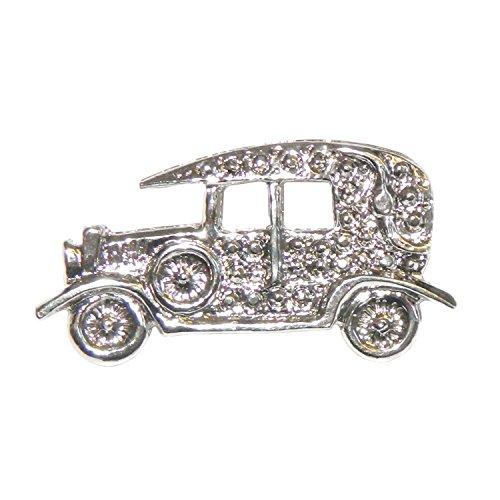 Brosche Oldtimer Auto Silber PORTOFREI Anstecknadel Anstecker Schmuck (1920 Modeschmuck)