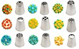 #9: Cake Decorating Nozzle Russian Nozzle Set of 9 Russia Icing Piping Nozzles with coupler