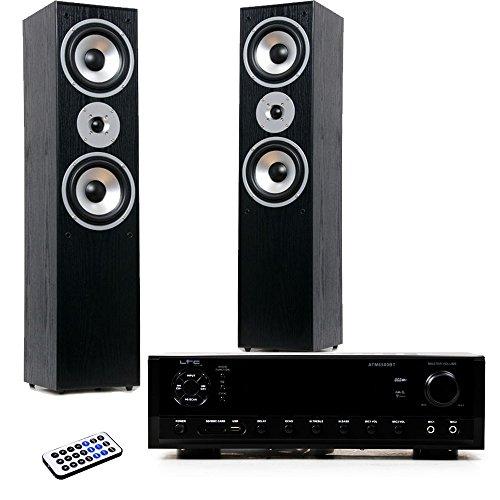 etc-shop Hifi Heimkino Musikanlage Bluetooth USB MP3 Verstärker schwarze Standboxen HIFI-Premium 11