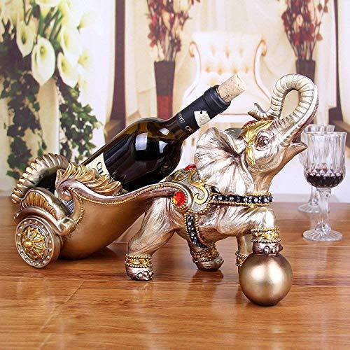 HhGold Decoración del Estante del Vino artesanías de Resina Carros de Caballos...