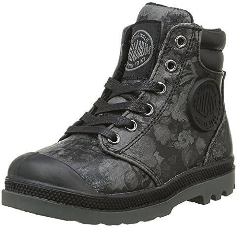 Palladium Wendy Flo K, Sneakers Hautes Filles, Noir (315 Black),