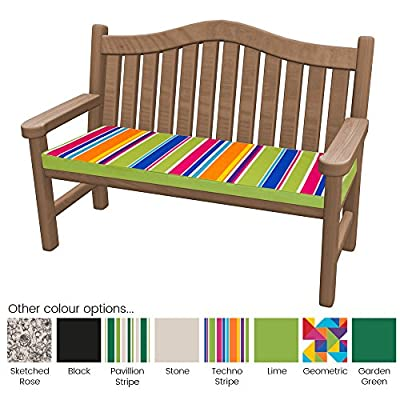 Outdoor Bench Pad Cushions - Fibre Filled Cushions for Benches - Colourful Water Resistant Garden Bench Pads by PEBBLE®