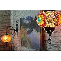 Applique da parete Tiffany in stile marocchino Lampada da parete turca, mosaico, tessere, lampada marocchina