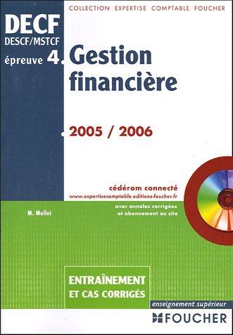 Gestion financière DECF épreuve n° 4 : Entraîn...