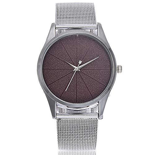 Klassisch Damenuhr Analog Quarz Edelstahl Milanaise Armband Zeitlos Ultra Dünn Armbanduhr Geschenk LEEDY