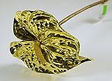 Elite-Anthurie gold H: 60cm, Kunststoff