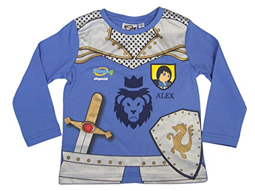 Preisvergleich Produktbild Playmobil Official Boys T-Shirt Long Sleeve 3Years Blue