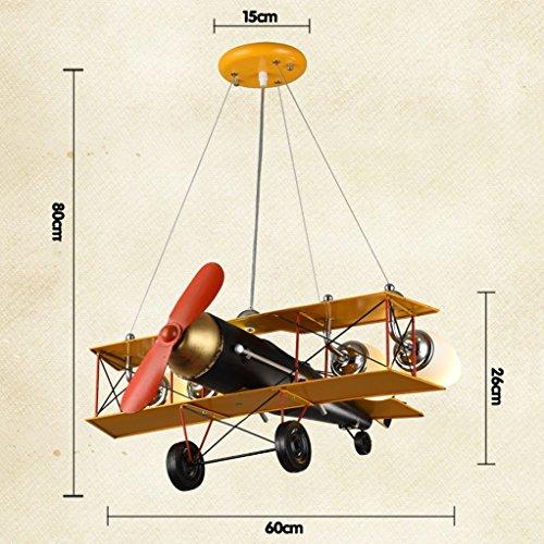 Guo Kinderzimmer-Lichter-Jungen-Schlafzimmer-Flugzeug-Lichter-Kronleuchter-Pers5onlichkeit-kreative Legierungs-Lampen-E27 Lampen-Hafen - 7