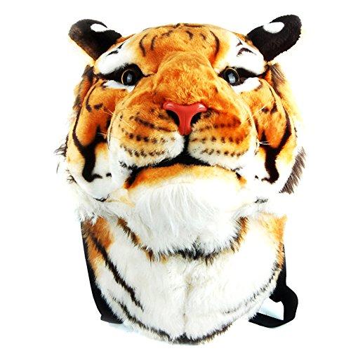 Dopobo® neue moderne Damen Herren jungen Damen und herren Tiger-Kopf Schulrucksack Wochendentasche Reisetasche-Japanisch Koreanisch Sytle (gelb)