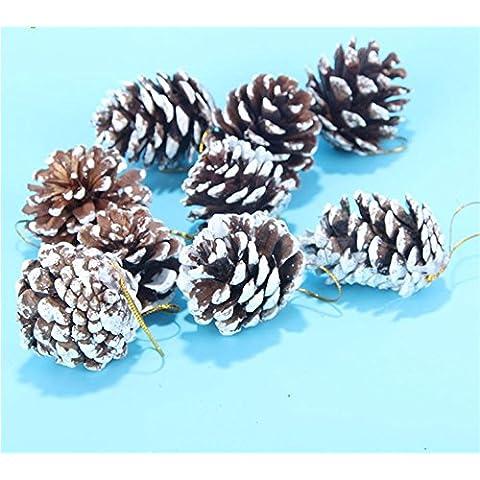 Xmas decorativi artificiali?Ghirlanda di Natale Natale aghi di pino Rattan anello alfabeto ornamenti cards-Ornamenti natale Garland accessori rattan Pigna ciondolo Pack 9 Pack