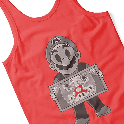 Super Mario X Ray Super Mushroom Men's Vest Red