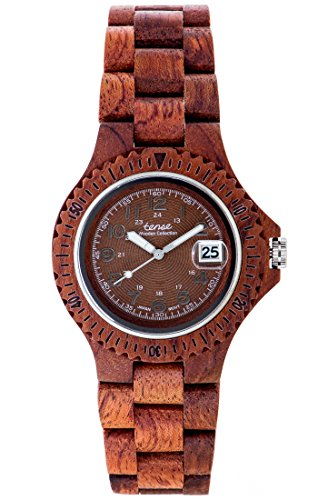 TENSE Premium // Compass - Karriholz - Damen Holz-Uhr L4100R-BR