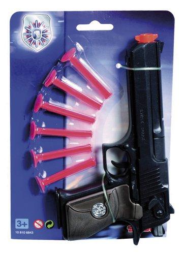 Simba 108106843 - Polizei Softdart Pistole, - Spielzeugpistolen