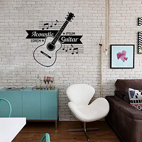 Bubbry FG192 Musik Gitarre Wandaufkleber PVC Hintergrund Dekoration Papier geschnitzt -