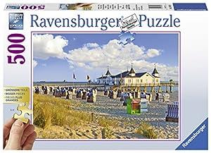 Ravensburger 13652 500pieza(s) rompecabeza - Rompecabezas (Jigsaw Puzzle, Strandstoelen in Ahlbeck, 9 año(s), 610 mm, 460 mm, 340 x 230 x 60 mm)