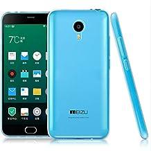 TBOC® Funda de Gel TPU Transparente para Meizu M2 Note (Meilan Note 2) de Silicona Ultrafina y Flexible