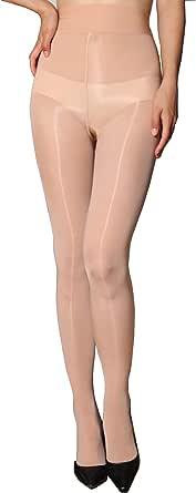 HTRUIYATY Sexy Super Lucido Collant 8 deniers Ultra sottile calze a vita alta collant Pu¨° essere abbinato a gonne e tacchi alti