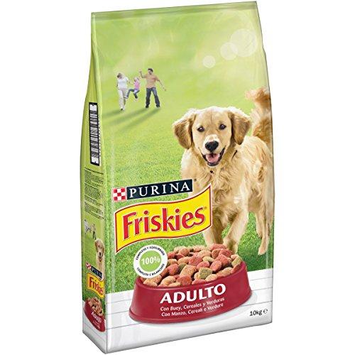 Friskies crocchette per il cane adulto, con manzo, cereali e verdure aggiunte, 10 kg