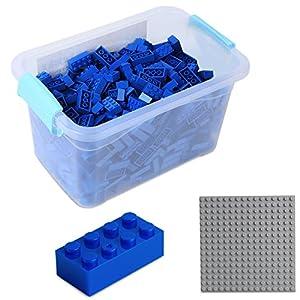 Katara Juego De 520 Ladrillos Creativos En Caja Con Placa De Construcción 100% Compatibles Con Lego Classic, Sluban, Papimax, Q-bricks, Color Azul (1827)