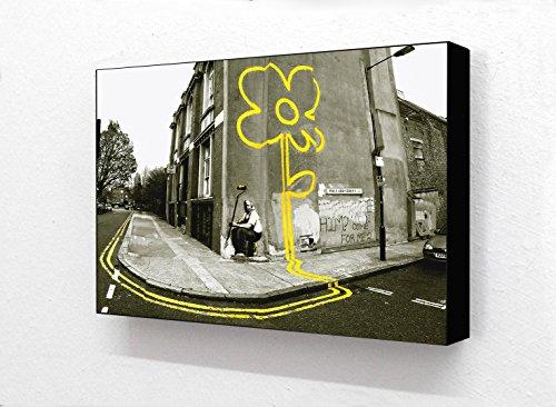 Banksy Horizontal Pollard Street 2Ton 15,2x 10,2cm Postkarte Größe Holzblock Drucken