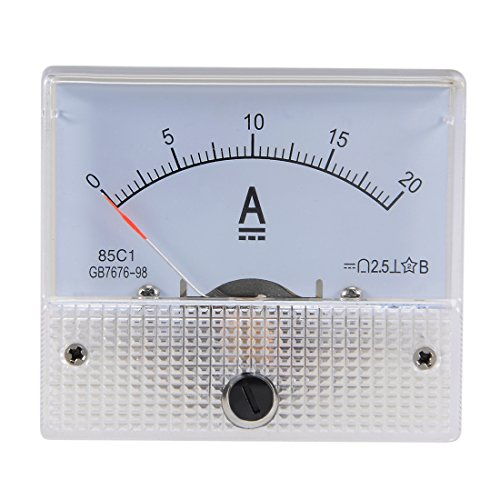 sourcing map 1 Stück 85C1 Analog Stromanzeiger Meter DC 20A Amperemeter Ampere Prüfgerät DE de (Ampere-meter)