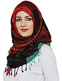 Momin Libas Women's Viscose Hijab and Scarf (HCT35117A_Multicolour_Free Size)