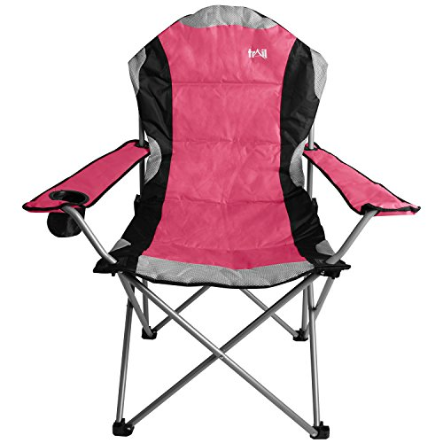 Kestrel Deluxe Camping Chair Heavy Duty Padded Folding Seat Festival Cup Holder