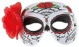 P 'tit Clown 42043Wolf Stoff mit Blume Day Of The Dead, Einheitsgröße