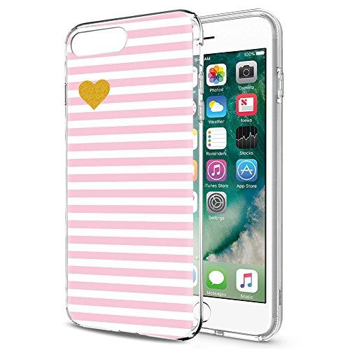 iPhone SE Hülle, iPhone 5s / 5 Hülle, Eouine Ultra Slim Soft TPU Muster Schutzhülle Silikon Stoßfest Bumper Case Cover für Apple iPhone SE / 5s / 5 (4 Zoll) Smartphone (Streifen Rosa) (Se-streifen)
