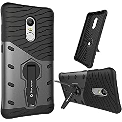 Bracevor Back Case Cover Hybrid 360 Rotating Kickstand for Xiaomi Redmi Note 4 - Black
