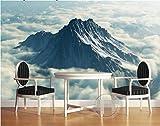 Weaeo 3D Wallpaper Benutzerdefinierte Mural Vlies 3D Wallpaper Alpine Weiße Wolken 3D Hintergrund Wand Foto 3D Wandbilder Wallpaper-400X280Cm