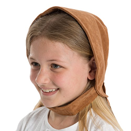 Tan Brown Victorian Edwardian Girls fancy dress Bonnet (Charlie Brown Party Supplies)