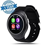 Captcha Y1 Touch Screen Bluetooth SmartWatch with SIM Card & Memory Slot Phone Watch with Camera (Assorted Color & Design)