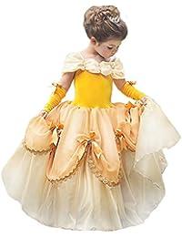 CQDY Cinderella Kostüm Kleid Für Kinder Mädchen Princess Kostüm Halloween Fancy Party Dress up Outfit Cosplay Kleider