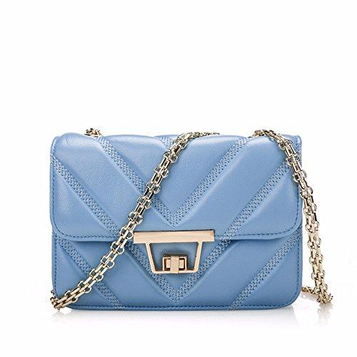 4392a0086f4f2 Leder Handtasche mit kleiner Tasche chain Package fashion Schaffell leder  tasche Mini Beutel