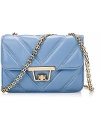 Preisvergleich für Leder Handtasche mit kleiner Tasche chain Package fashion Schaffell leder tasche Mini Beutel, 21*8*14 cm