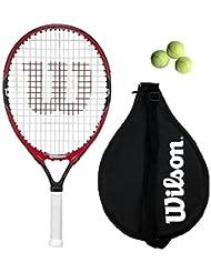 """Wilson Federer Junior 19,21,23,25,26 Raqueta De Tenis + 3 pelotas de tenis - 26"""""""
