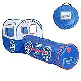 KINGEE-P Zelttunnel Für Kids Active - 6 Monate bis 6 Jahre Altes Pop-Up-Zelt Mit Tunnel (Keine Kugeln) - Ideal für Haus & Garten - 80 x 80 x 80 cm