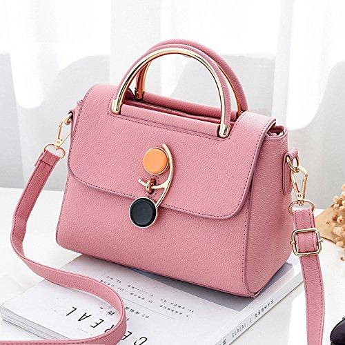 Pacchetto CengBao femmina nuovo pacchetto di piccole dimensioni di semplici borse alla moda, spalla Borsa donna casual pacchetto, Viola Rosa