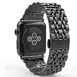MoKo Apple Watch Armband 40 mm 38 mm Series 4/3 / 2/1, [Sieben Longines] Edelstahl Wrist Band Uhrband Uhrenarmband Erstatzband für Apple Watch 40mm 38mm 2018, Space Grau